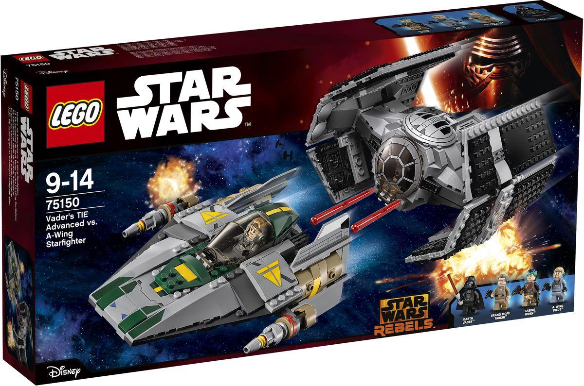 LEGO Star Wars Конструктор Усовершенствованный истребитель СИД Дарта Вейдера против Звездного Истребителя A-Wing 7515075150Откройте кабину, посадите лорда Вейдера в его усовершенствованный истребитель СИД и мчитесь на перехват истребителя повстанцев A-Wing. Стреляйте из пружинных пушек, но следите, чтобы Повстанцы, которые тоже стреляют из собственных пружинных пушек, не зашли с тыла! Кто одержит победу в этой эпической напряженной битве Добра со Злом? Это предстоит решить вам. Конструктор LEGO Star Wars включает в себя 702 разноцветных пластиковых элемента. Конструктор станет замечательным сюрпризом вашему ребенку, который будет способствовать развитию мелкой моторики рук, внимательности, усидчивости и мышления. Играя с конструктором, ребенок научится собирать детали по образцу, проводить время с пользой и удовольствием.