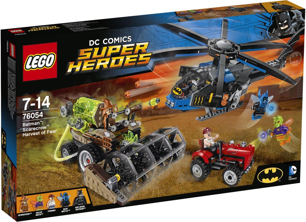 LEGO Super Heroes Конструктор Бэтмен Жатва страха 7605476054Бэтмен в противогазе и Синий жук на Бэткоптере спешат на помощь испуганному фермеру. Стреляйте по комбайну, прежде чем он уничтожит трактор, но опасайтесь шипованного шутера Пугала, стреляющего пугающим газом! Вступите в воздушный бой с Синим жуком и Мотыльком-убийцей! Остановите преступников, которые держат фермера в газовом баке комбайна и сеют страх среди других жителей Готэм-Сити. Набор включает в себя 563 разноцветных пластиковых элемента. Конструктор - это один из самых увлекательных и веселых способов времяпрепровождения. Ребенок сможет часами играть с конструктором, придумывая различные ситуации и истории.