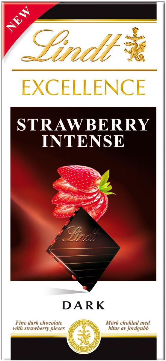 Lindt Excellence темный шоколад с кусочками клубники, 100 г ( 3046920027458 )