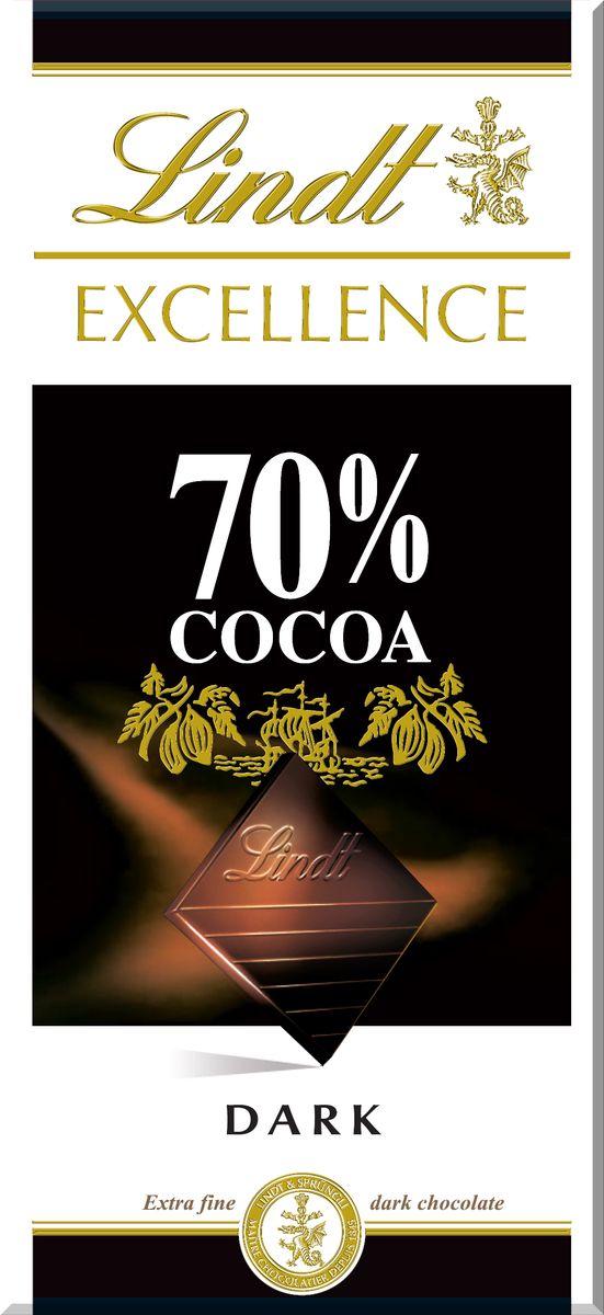 Lindt Excellence горький шоколад 70% какао, 100 г