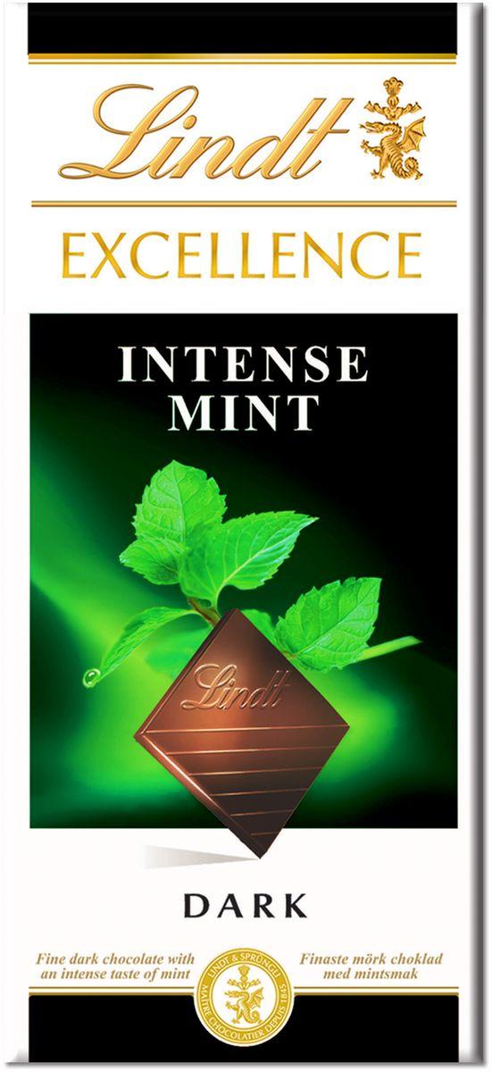 Lindt Excellence темный шоколад со вкусом мяты, 100 г ( 3046920028752 )