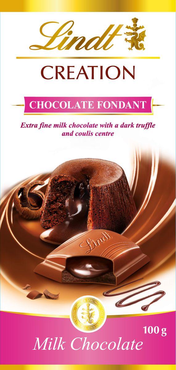 Lindt Creation Шоколад Фондан молочный шоколад c начинкой, 100 г3046920042710Восхитительный молочный шоколад c начинкой Шоколад Фондан