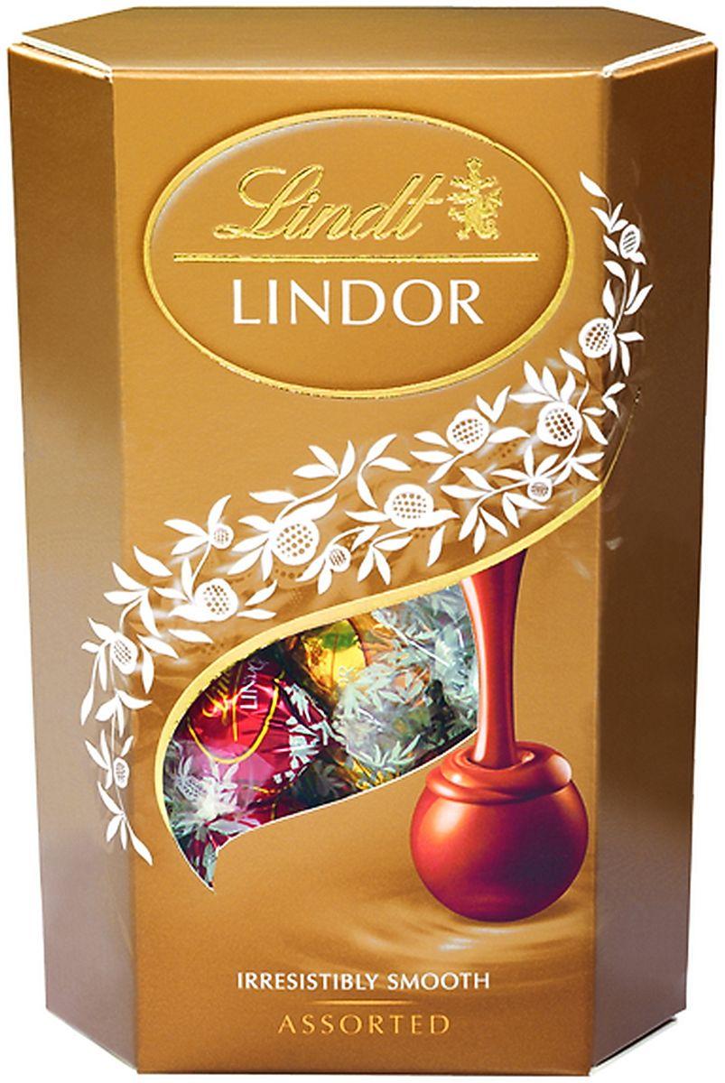 Линдор. Ассорти конфет из шоколада с нежной, тающей начинкой