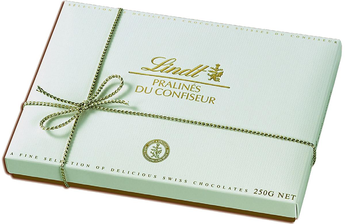 Lindt Pralines конфеты ассорти пралине, 250 г (белая коробка)