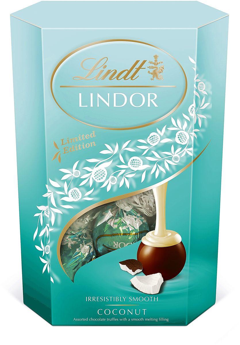 Lindt Lindor конфеты из молочного шоколада с кокосовой начинкой, 200 г