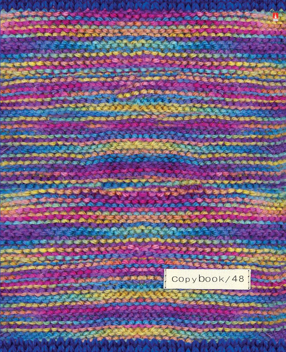 Альт Тетрадь Модный свитер 48 листов в клетку Вид 17-48-015Тетрадь Альт Модный свитер выпускается в стильной двойной обложке формата А5. Обложка тетради выполнена из плотного картона и оформлена рисунками в стиле вязаных материалов. Благодаря отделке гибридным лаком обложка приобретает необычный эффект матового пластика. Внутренний блок тетради, соединенный двумя металлическими скрепками, состоит из 48 листов белой бумаги. Четкая линовка точно совпадает с обеих сторон каждого листа. Поля отмечены красным цветом.