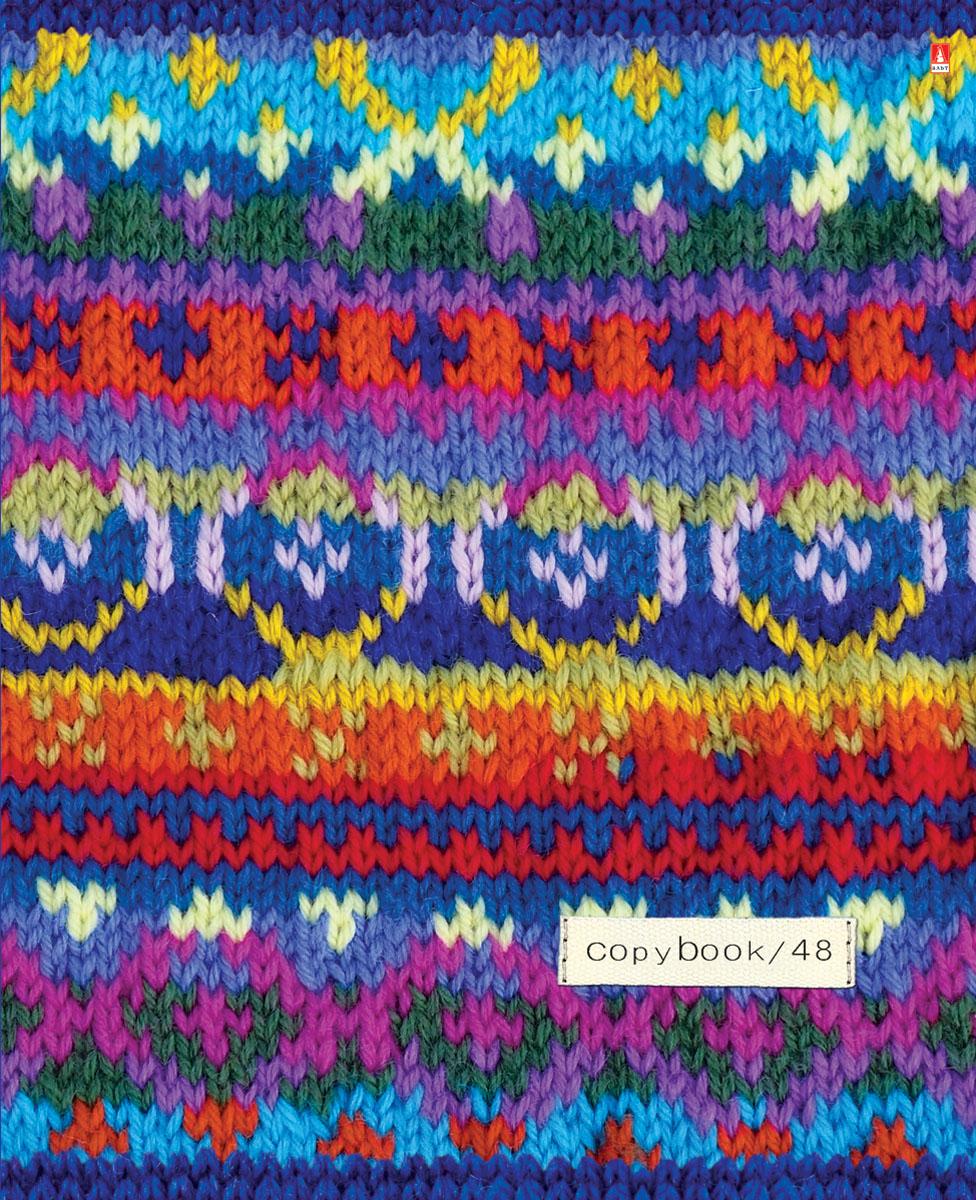 Альт Тетрадь Модный свитер 48 листов в клетку Вид 27-48-015Тетрадь Альт Модный свитер выпускается в стильной двойной обложке формата А5. Обложка тетради выполнена из плотного картона и оформлена рисунками в стиле вязаных материалов. Благодаря отделке гибридным лаком обложка приобретает необычный эффект матового пластика. Внутренний блок тетради, соединенный двумя металлическими скрепками, состоит из 48 листов белой бумаги. Четкая линовка точно совпадает с обеих сторон каждого листа. Поля отмечены красным цветом.