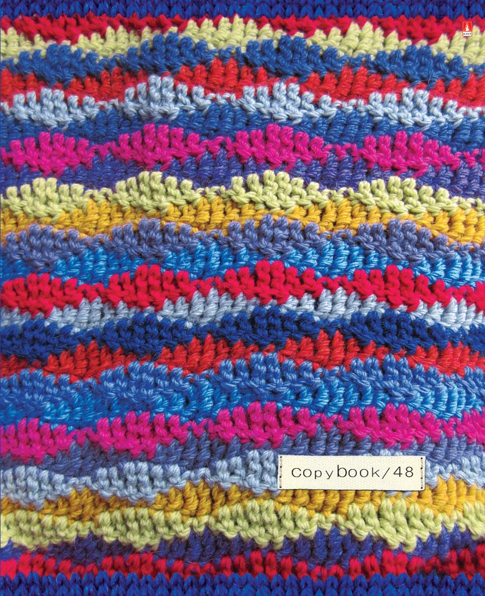 Альт Тетрадь Модный свитер 48 листов в клетку Вид 57-48-015Тетрадь Альт Модный свитер выпускается в стильной двойной обложке формата А5. Обложка тетради выполнена из плотного картона и оформлена рисунками в стиле вязаных материалов. Благодаря отделке гибридным лаком обложка приобретает необычный эффект матового пластика. Внутренний блок тетради, соединенный двумя металлическими скрепками, состоит из 48 листов белой бумаги. Четкая линовка точно совпадает с обеих сторон каждого листа. Поля отмечены красным цветом.