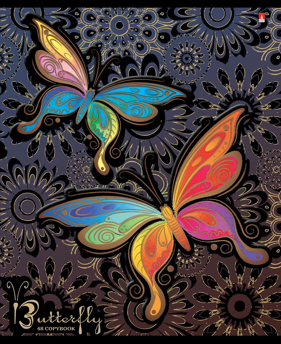 Альт Тетрадь Радужные бабочки 48 листов в клетку вид 17-48-1021Тетрадь Альт Радужные бабочки отлично подойдет для занятий школьнику, студенту или для различных записей. Двойная закругленная обложка тетради выполнена из качественного экологически чистого картона. Лицевая сторона оформлена изображением в виде ярких бабочек. Внутренний блок тетради, соединенный двумя металлическими скрепками, состоит из 48 листов первосортной бумаги белого цвета формата А5. Четкая линовка точно совпадает с обеих сторон каждого листа. Поля отмечены красным цветом.