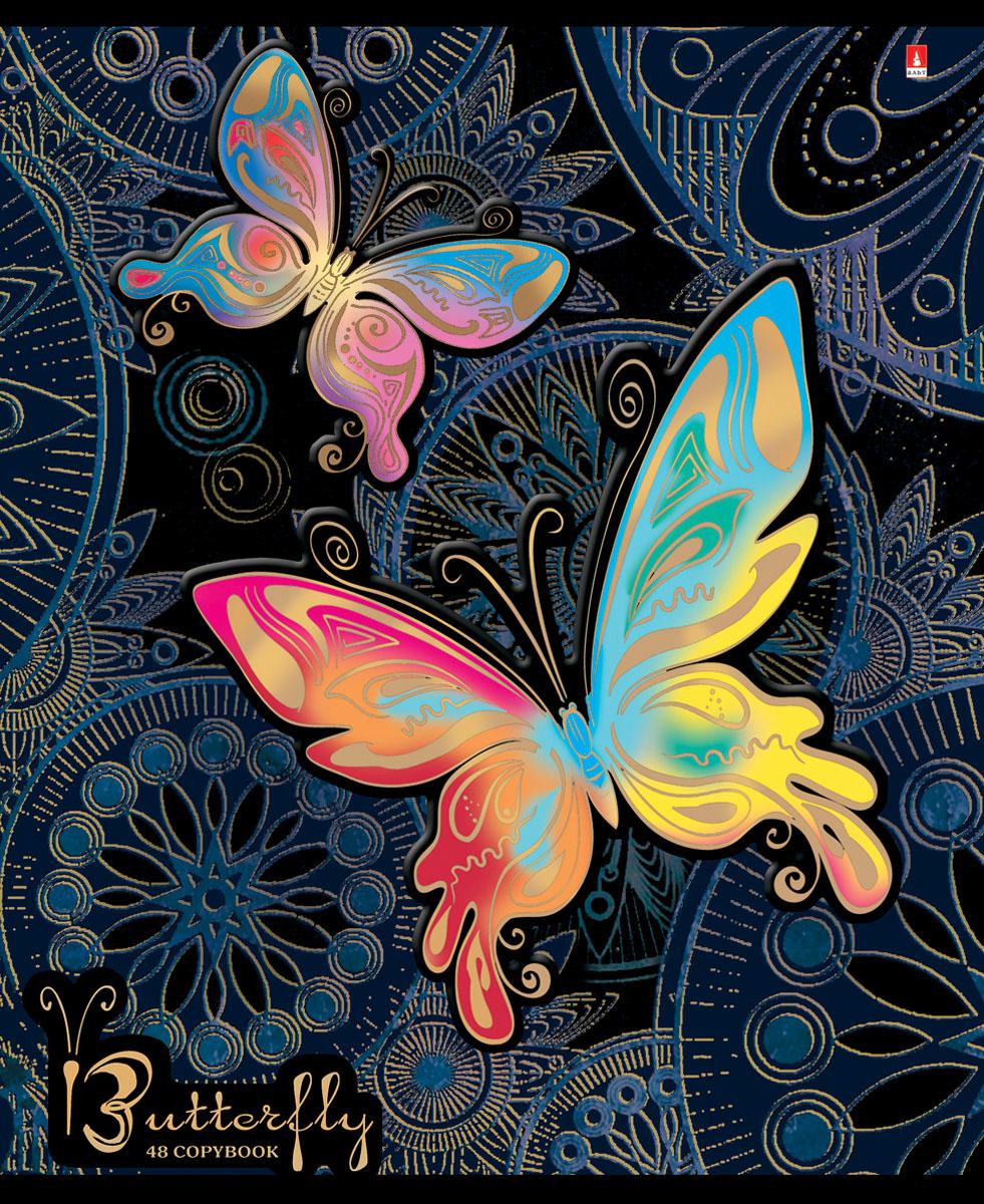 Альт Тетрадь Радужные бабочки 48 листов в клетку вид 37-48-1021Тетрадь Альт Радужные бабочки отлично подойдет для занятий школьнику, студенту или для различных записей. Двойная закругленная обложка тетради выполнена из качественного экологически чистого картона. Лицевая сторона оформлена изображением в виде ярких бабочек. Внутренний блок тетради, соединенный двумя металлическими скрепками, состоит из 48 листов первосортной бумаги белого цвета формата А5. Четкая линовка точно совпадает с обеих сторон каждого листа. Поля отмечены красным цветом.
