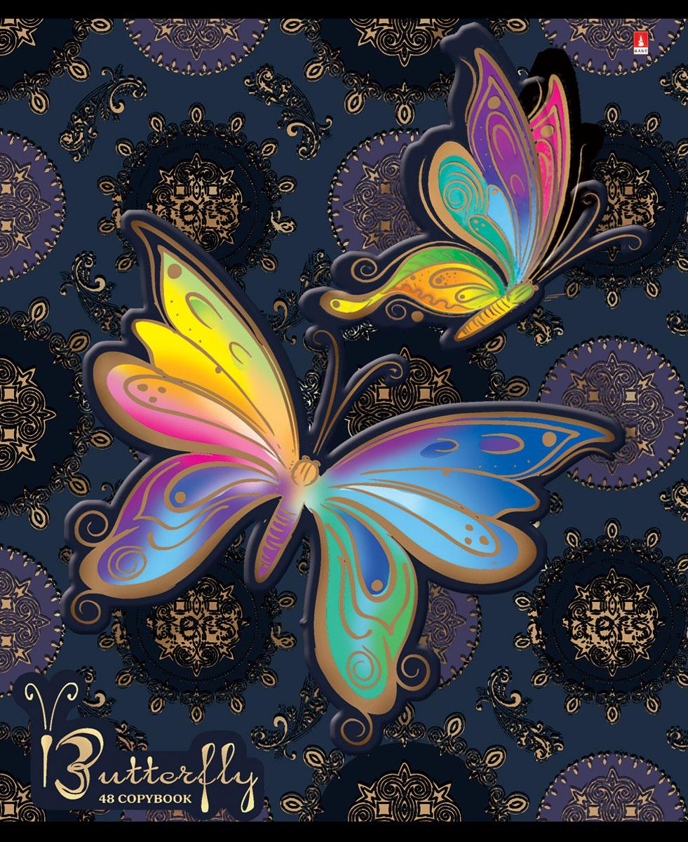 Альт Тетрадь Радужные бабочки 48 листов в клетку вид 57-48-1021Тетрадь Альт Радужные бабочки отлично подойдет для занятий школьнику, студенту или для различных записей. Двойная закругленная обложка тетради выполнена из качественного экологически чистого картона. Лицевая сторона оформлена изображением в виде ярких бабочек. Внутренний блок тетради, соединенный двумя металлическими скрепками, состоит из 48 листов первосортной бумаги белого цвета формата А5. Четкая линовка точно совпадает с обеих сторон каждого листа. Поля отмечены красным цветом.