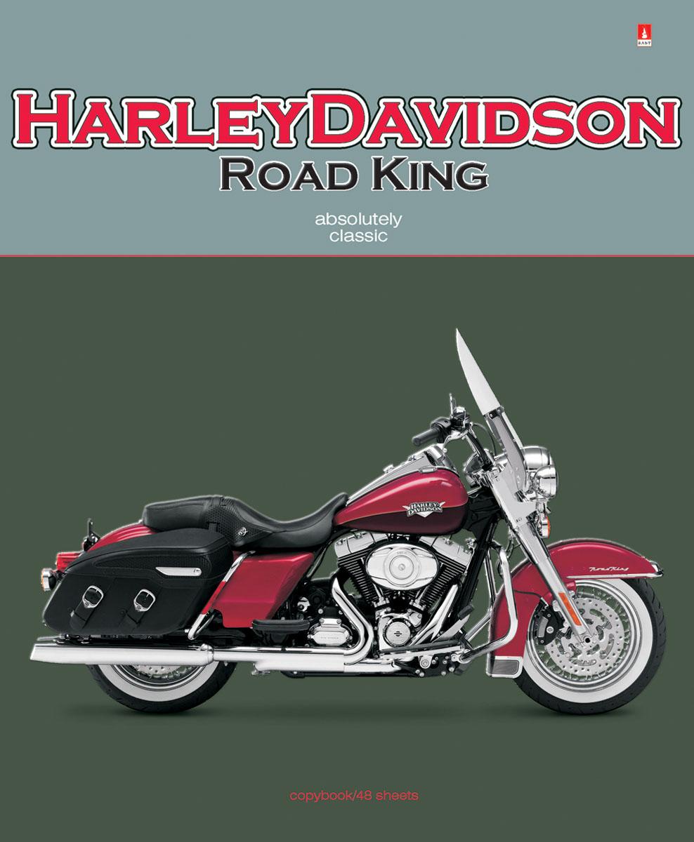 Альт Тетрадь Harley Davidson 48 листов в клетку7-48-1029Тетрадь Альт Harley Davidson подойдет студенту и школьнику. Серия Мотоциклы классика посвящена самым хитовым моделям мотоциклов. Двойная обложка тетради изготовлена из плотного картона. Печать выполняется на фольгированной поверхности, за счет чего усиливается объемность и реалистичность рисунка. Рельефное тиснение и отделка гибридным лаком подчеркнули особенности дизайна. Обложки с мотоциклами, относящимися к категории классика, наверняка хорошо знакомы молодым людям. Харлей Дэвидсон, Урал, Триумф и другие - это универсальные, самые популярные модели среди любителей высоких скоростей. Их сдержанный внешний вид, отсутствие большого количества хромированных деталей и украшений - вот причина успеха этих мотоциклов-легенд. Внутренний блок тетради состоит из 48 листов белой бумаги, соединенных двумя металлическими скрепками. Стандартная линовка в клетку дополнена красными полями.