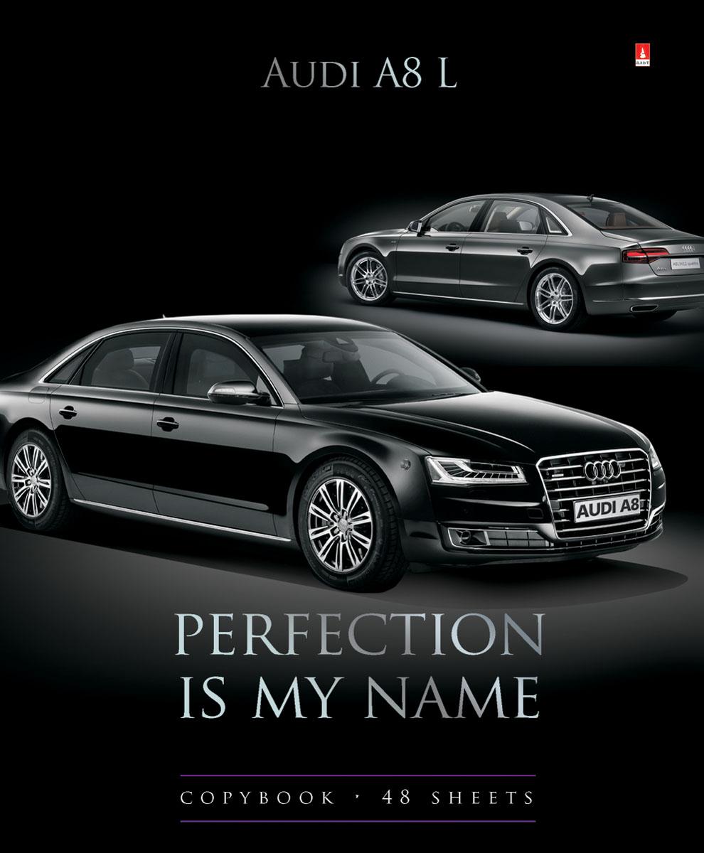 Альт Тетрадь Audi A8 L 48 листов в клетку7-48-1032Тетрадь Альт Audi A8 L из серии Машины седаны отлично подойдет для занятий школьнику, студенту или для различных записей. Двойная обложка тетради выполнена из качественного экологически чистого картона с покрытием лака и отделкой серебряной фольги. Лицевая сторона оформлена изображением черной Audi A8 L. Внутренний блок тетради, соединенный двумя металлическими скрепками, состоит из 48 листов первосортной бумаги белого цвета формата А5. Четкая линовка точно совпадает с обеих сторон каждого листа. Поля отмечены красным цветом.