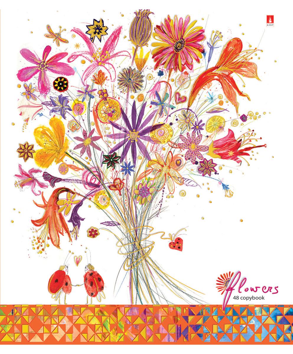 Альт Тетрадь Цветы Счастье 48 листов в клетку Вид 37-48-115Тетрадь Альт Цветы. Счастье идеально подойдет для большинства школьных предметов. Благодаря скругленным краям исключаются заломы уголков. Оригинальность дизайну придает полиграфическая отделка. Форзацы тетради с полноцветной печатью продолжают общее оформление данной серии. В выделенном поле можно написать имя и фамилию ученика. Внутренний блок тетради состоит из 48 листов высококачественной белой бумаги, соединенных двумя металлическими скрепками. Линовка в клетку сопровождается красными полями.