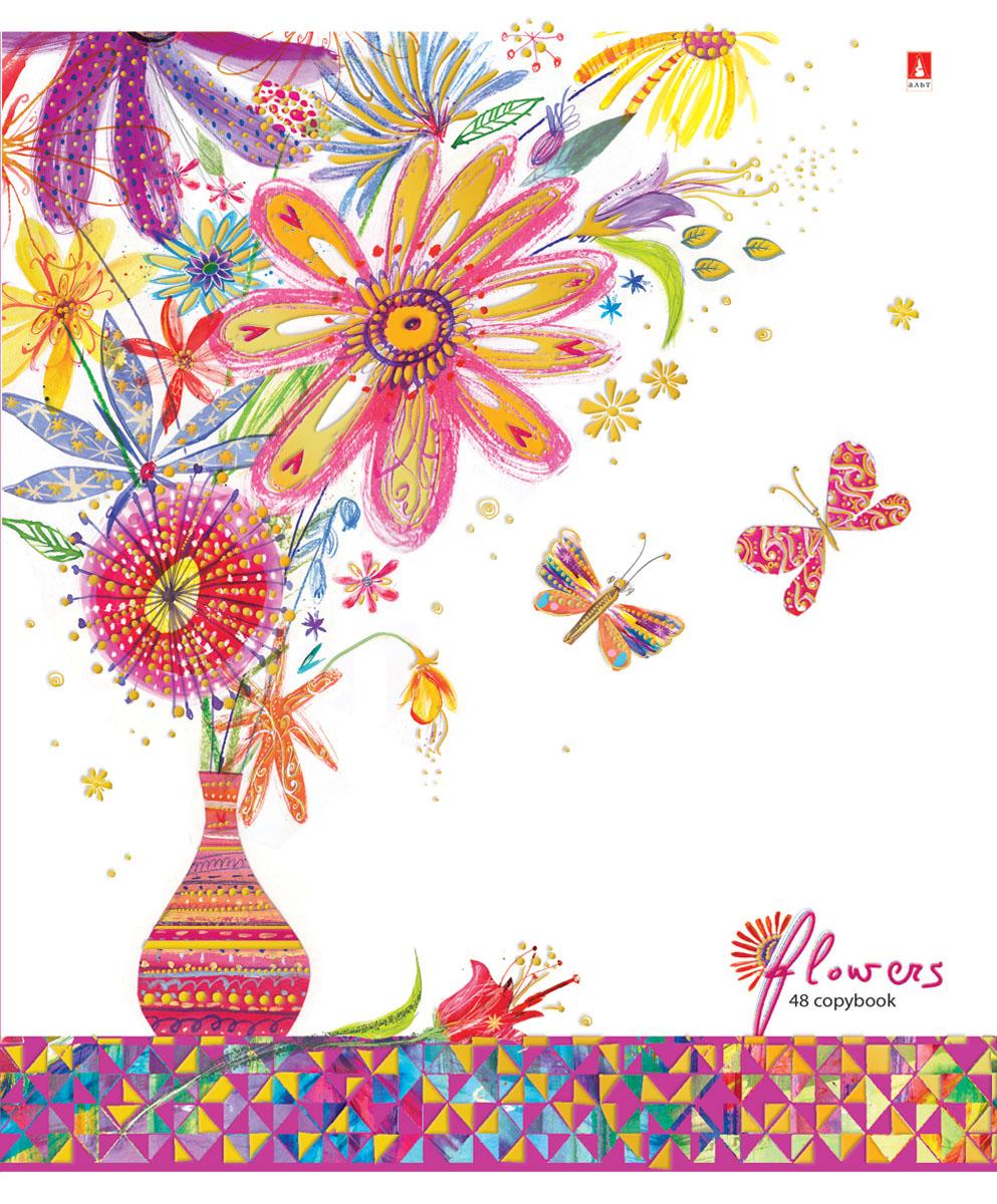 Альт Тетрадь Цветы Счастье 48 листов в клетку Вид 47-48-115Тетрадь из серии Цветы. Счастье прекрасно подойдет для школьников и студентов. Тетрадь формата А5 в двойной обложке из качественного картона. Благодаря закругленным краям исключаются заломы страниц. Вторая обложка содержит поле для личных данных школьника, а полноцветные форзацы продолжают общее оформление серии. Тетрадь выглядит стильно и эффектно за счет полиграфической отделки. Внутренний блок состоит из 48 листов. Бумага отличается белизной и гладкостью, обладает плотностью 60 грамм, не просвечивает чернила. Все страницы разлинованы в клетку и дополнены красными полями. Модные техники коллажа и аппликации, стилизация под рисунки от руки - все эти приемы создают красочный, сказочный стиль тетрадей Цветы. Счастье.