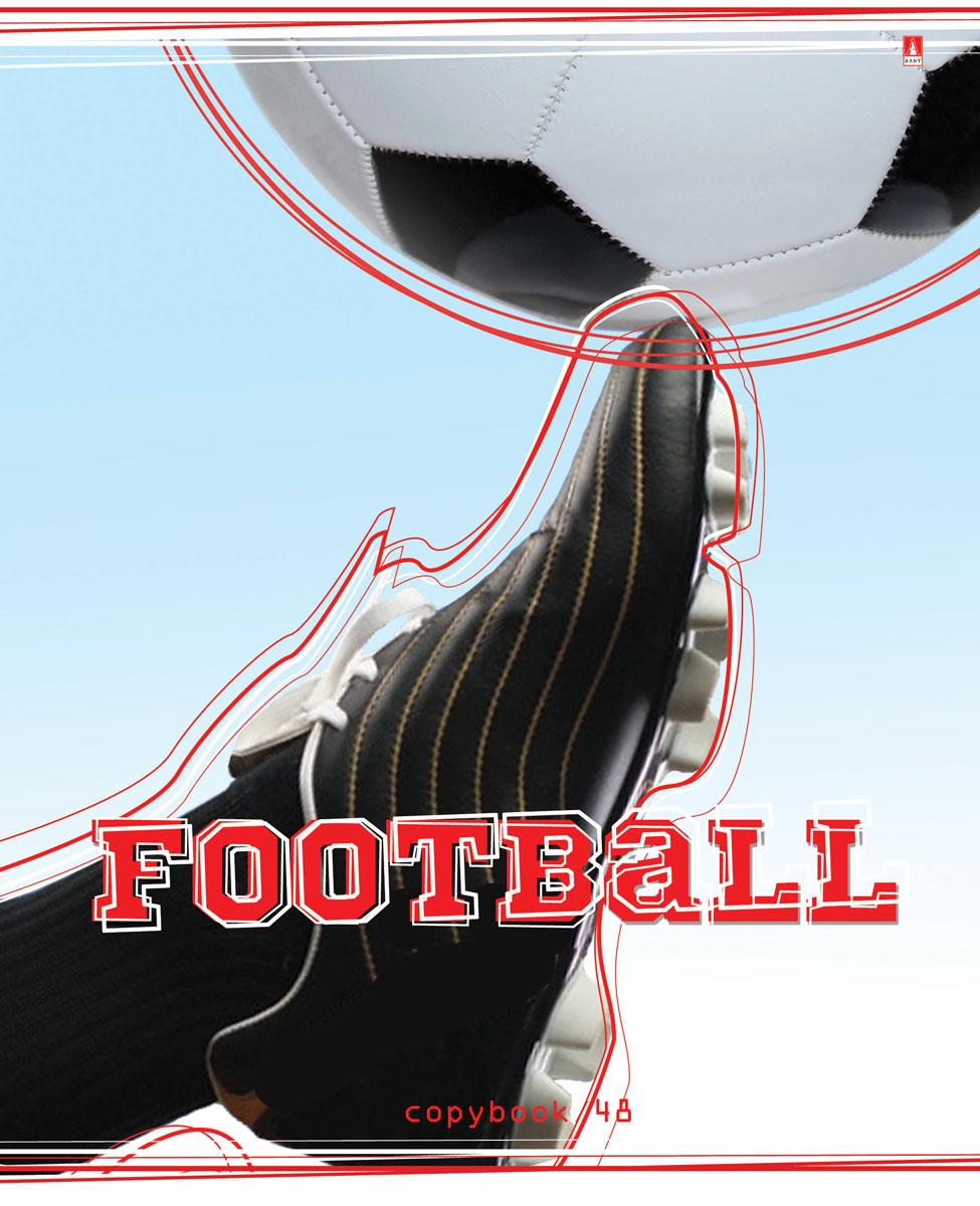 Альт Тетрадь Футбол 48 листов в клетку Вид 47-48-184Тетрадь Альт Футбол отлично подойдет для занятий школьнику, студенту или для различных записей. Закругленная обложка тетради выполнена из качественного экологически чистого картона. Лицевая сторона оформлена изображением в виде футбольного мяча и бутсы. Внутренний блок тетради, соединенный двумя металлическими скрепками, состоит из 48 листов бумаги белого цвета формата А5.