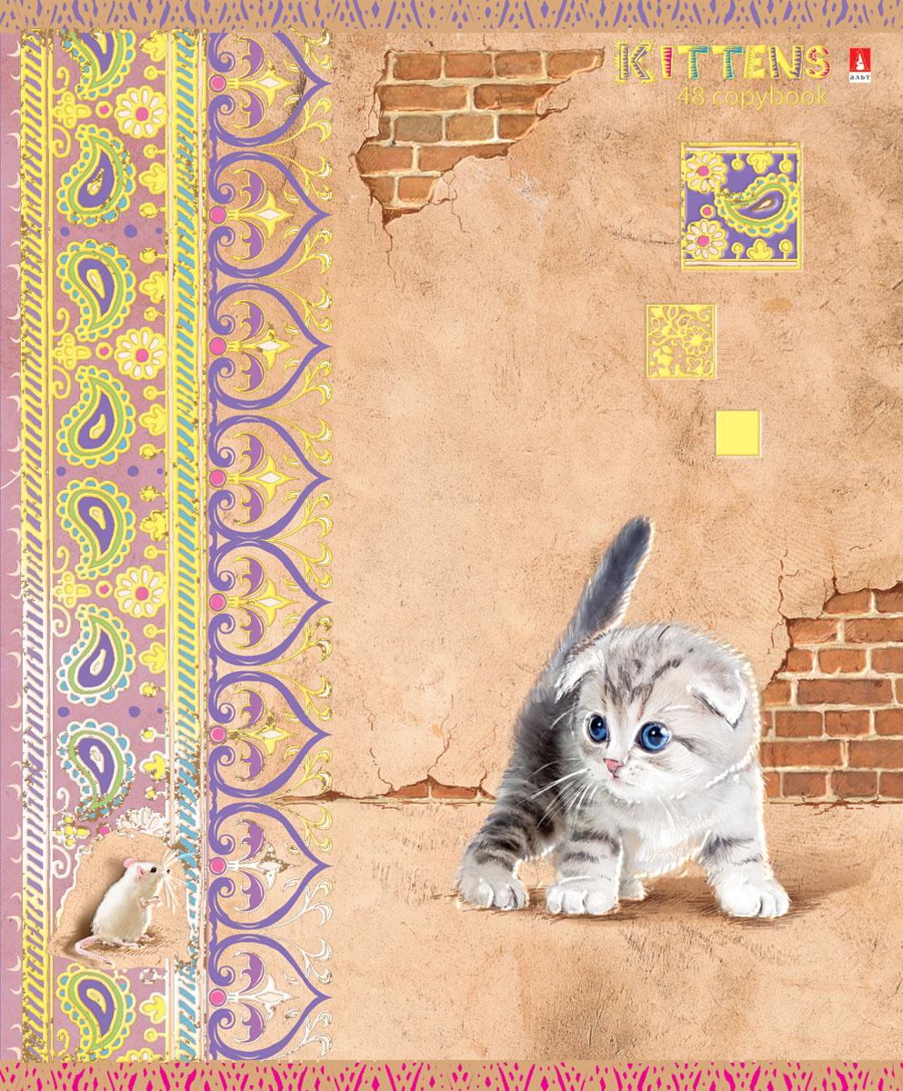 Альт Тетрадь Кошки-мышки 48 листов в клетку вид 47-48-624Тетрадь Альт Кошки-мышки отлично подойдет для занятий школьнику, студенту или для различных записей. Обложка тетради с закругленными уголками выполнена из качественного экологически чистого картона и покрыта гибридным лаком. Лицевая сторона оформлена изображением милого котенка. Внутренний блок тетради, соединенный двумя металлическими скрепками, состоит из 48 листов первосортной бумаги белого цвета формата А5. Четкая линовка точно совпадает с обеих сторон каждого листа. Поля отмечены красным цветом. Вне зависимости от породы очарование и трогательность этих малышей не оставят равнодушными взрослых и детей.