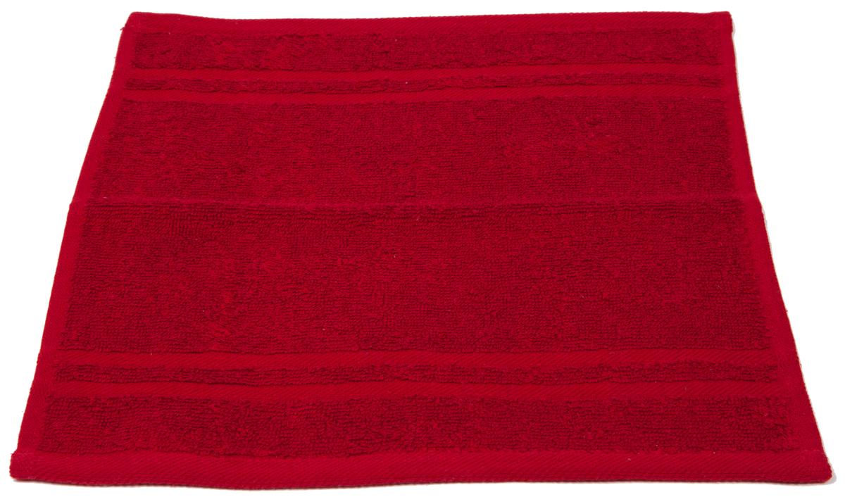 Полотенце махровое Arloni Marvel, цвет: бордовый, 33х33 см. 4403944039