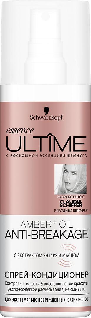 Essence ULTIME Спрей-кондиционер Amber Oil, 200 мл2030366Спрей-кондиционер с экстрактом янтаря и маслом. Контроль ломкости & восстановление красоты экспресс-легкое расчесывание для экстремально поврежденных, сухих волос.