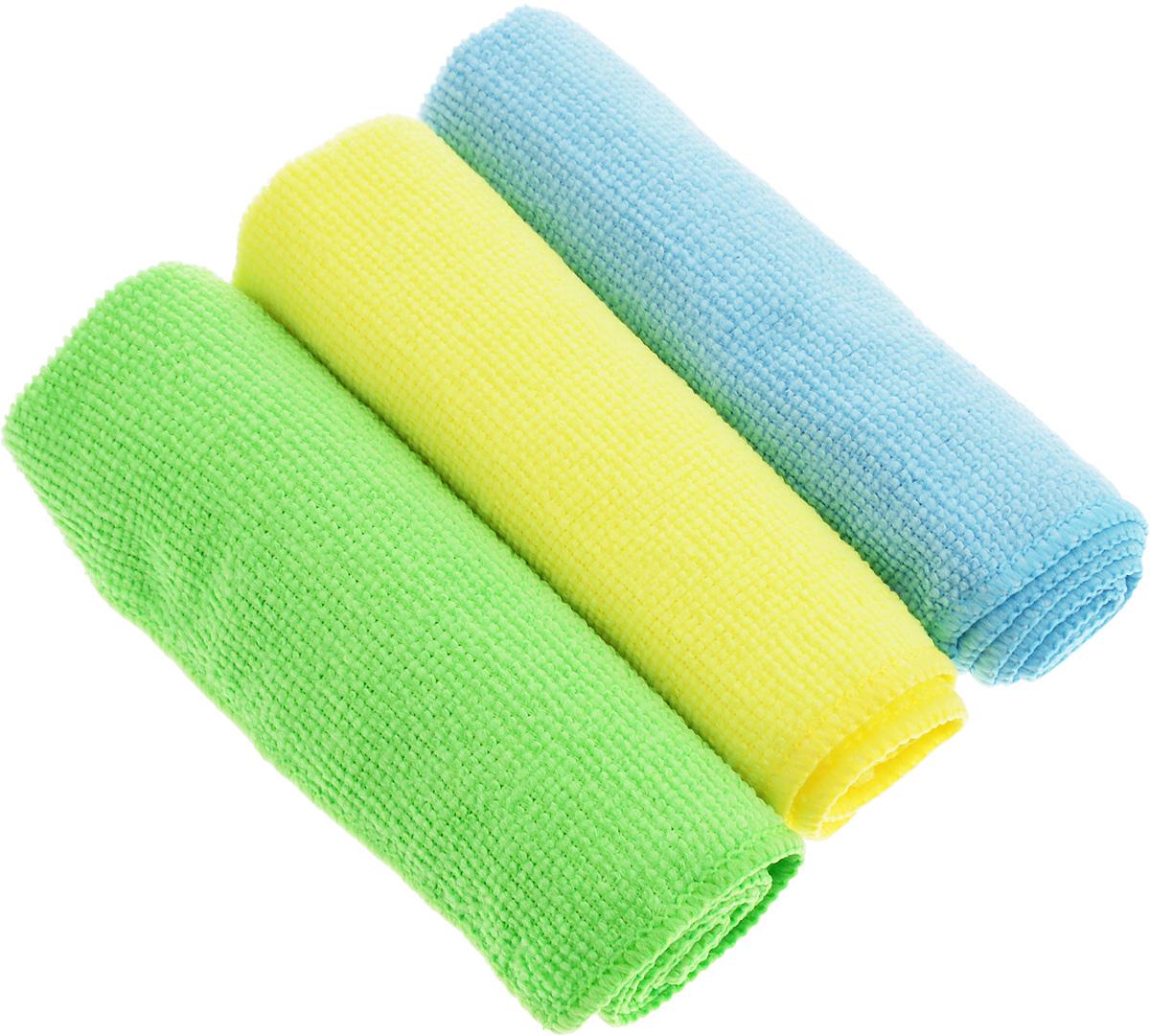 Набор салфеток для уборки Sol, из микрофибры, цвет: салатовый, желтый, голубой, 30 x 30 см, 3 шт10035_салатовый, желтый, голубойНабор салфеток Sol выполнен из микрофибры. Микрофибра - это ткань из тонких микроволокон, которая эффективно очищает поверхности благодаря капиллярному эффекту между ними. Такая салфетка может использоваться как для сухой, так и для влажной уборки. Деликатно очищает любые поверхности, не оставляя следов и разводов. Идеально подходит для протирки полированной мебели. Сохраняет свои свойства после стирки.