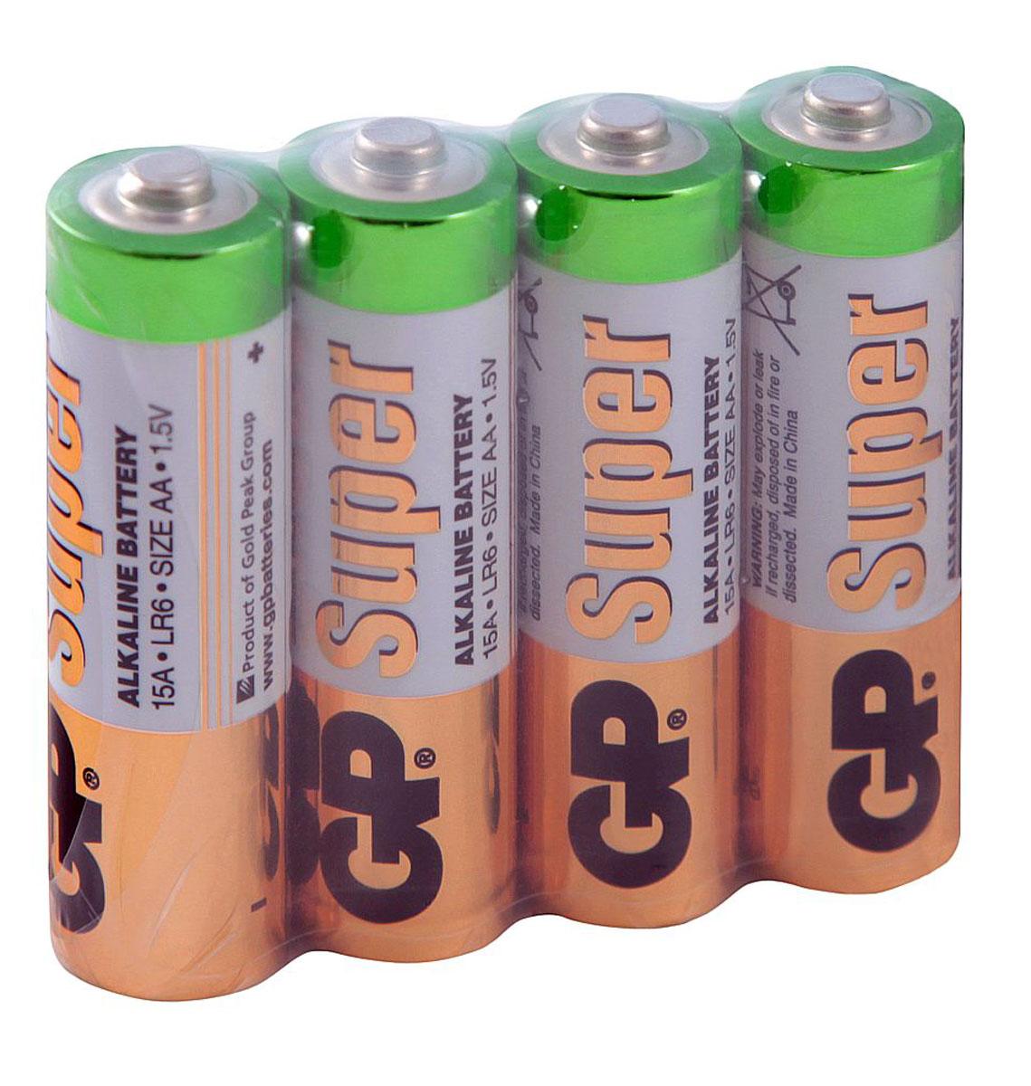 Набор алкалиновых батареек GP 24ARS-2SB4, 4 шт