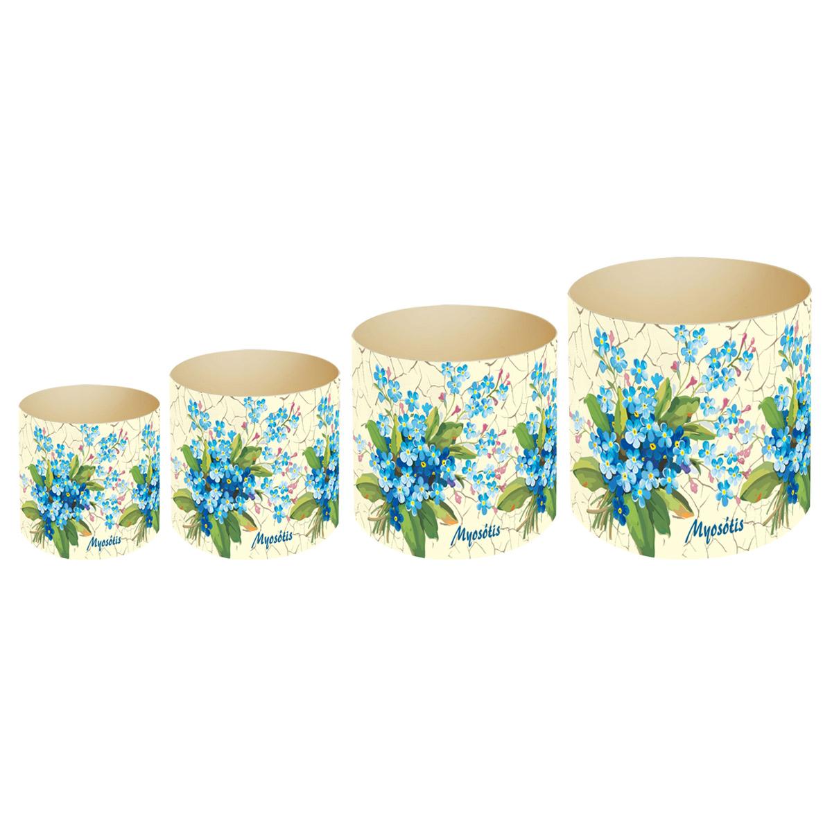 Набор горшков для цветов Miolla Прованс незабудки, со скрытым поддоном, 4 предметаSMG-SET11Набор Miolla Прованс незабудки состоит из 4 горшков со скрытыми поддонами. Горшки выполнены из пластика и декорированы цветочным рисунком. Изделия предназначены для цветов. Изделия оснащены специальными скрытыми поддонами. Диаметр горшков: 20,5 см, 16,5 см, 13,5 см, 11,5 см. Высота горшков (с учетом поддона): 19 см, 16 см, 13,5 см, 11,5 см. Объем горшков: 1 л, 1,7 л, 2,8 л, 5,1 л.