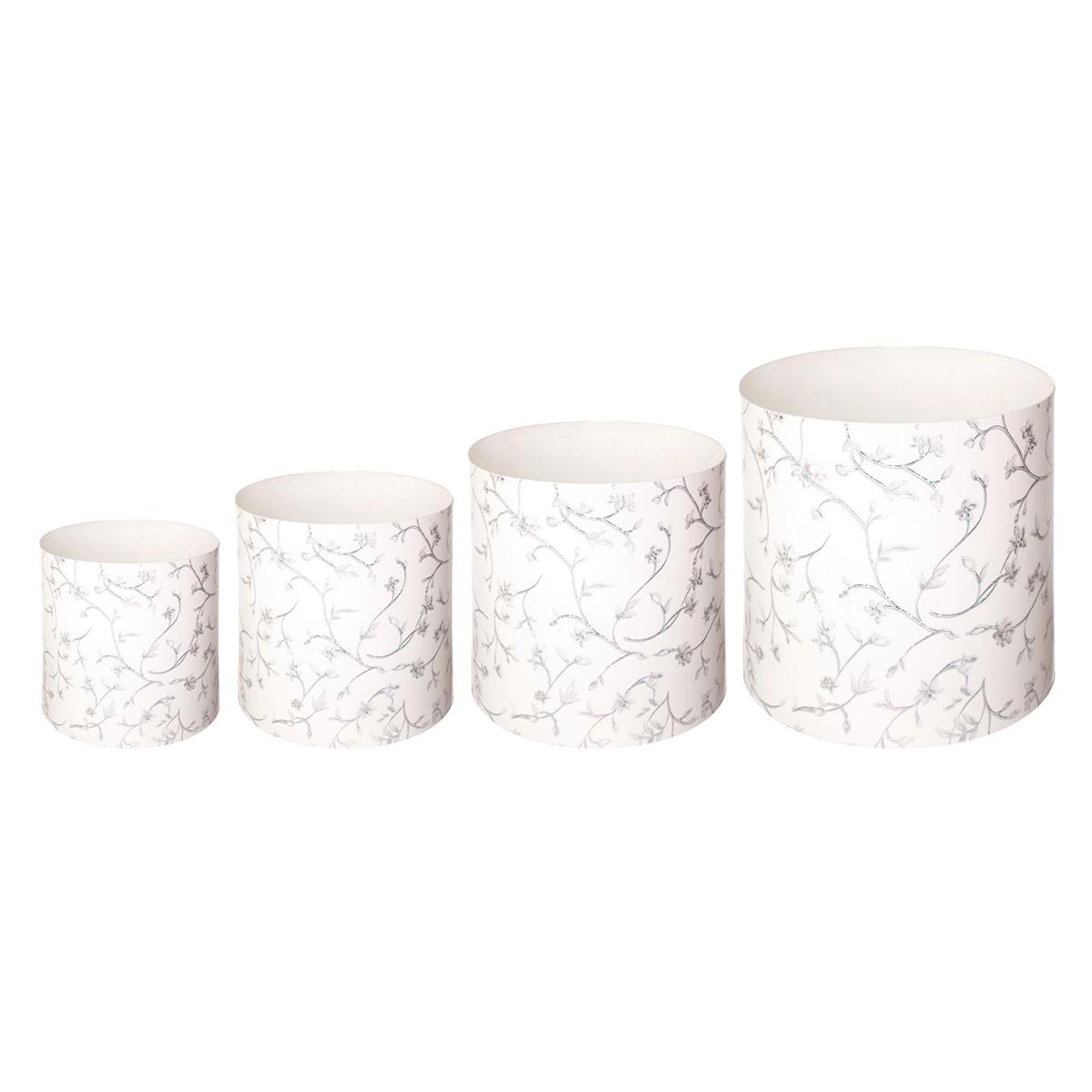 Набор горшков для цветов Miolla Металлик со скрытым поддоном, 4 предметаSMG-SET19Набор горшочков Miolla c 3D рисунком. Хорошо будут смотреться как основа для топиариев и флористических композиций. А так же замечательно для комнатных цветов. Со скрытым поддоном.