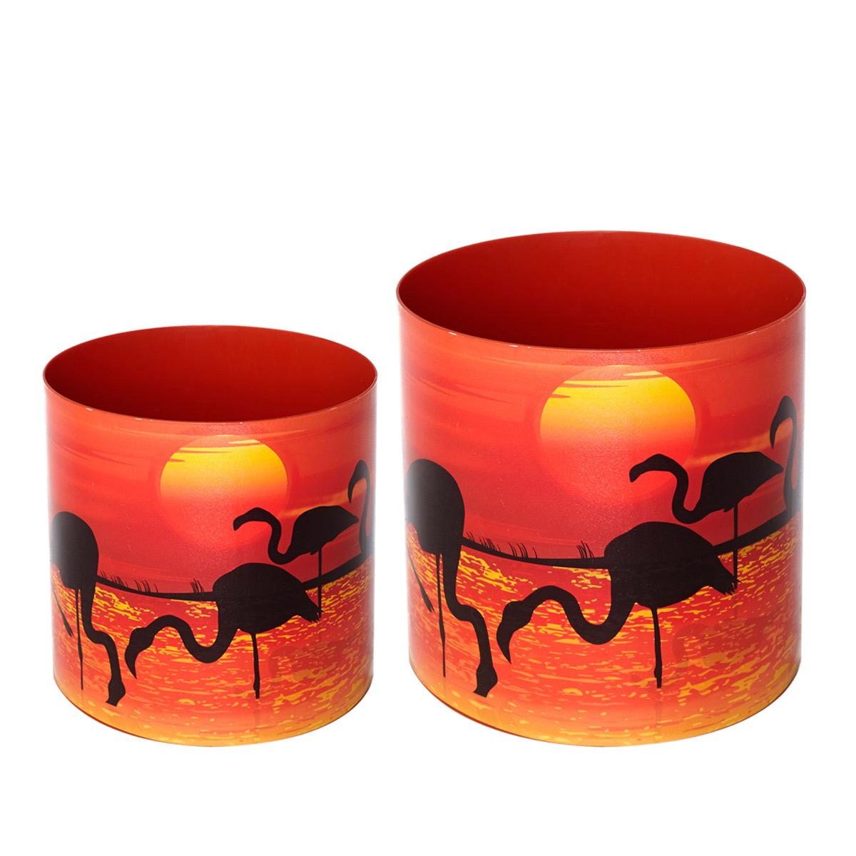 Набор горшков для цветов Miolla Фламинго, со скрытым поддоном, 2 предметаSMG-SET2Набор Miolla Фламинго состоит из 2 горшков со скрытыми поддонами. Горшки выполнены из пластика и декорированы красочным рисунком. Изделия предназначены для цветов. Изделия оснащены специальными скрытыми поддонами. Объем горшков: 1 л, 1,7 л.