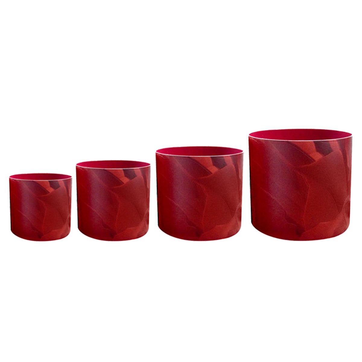 Набор горшков для цветов Miolla «Красная кожа» со скрытым поддоном, 4 предмета Современные сухие корма