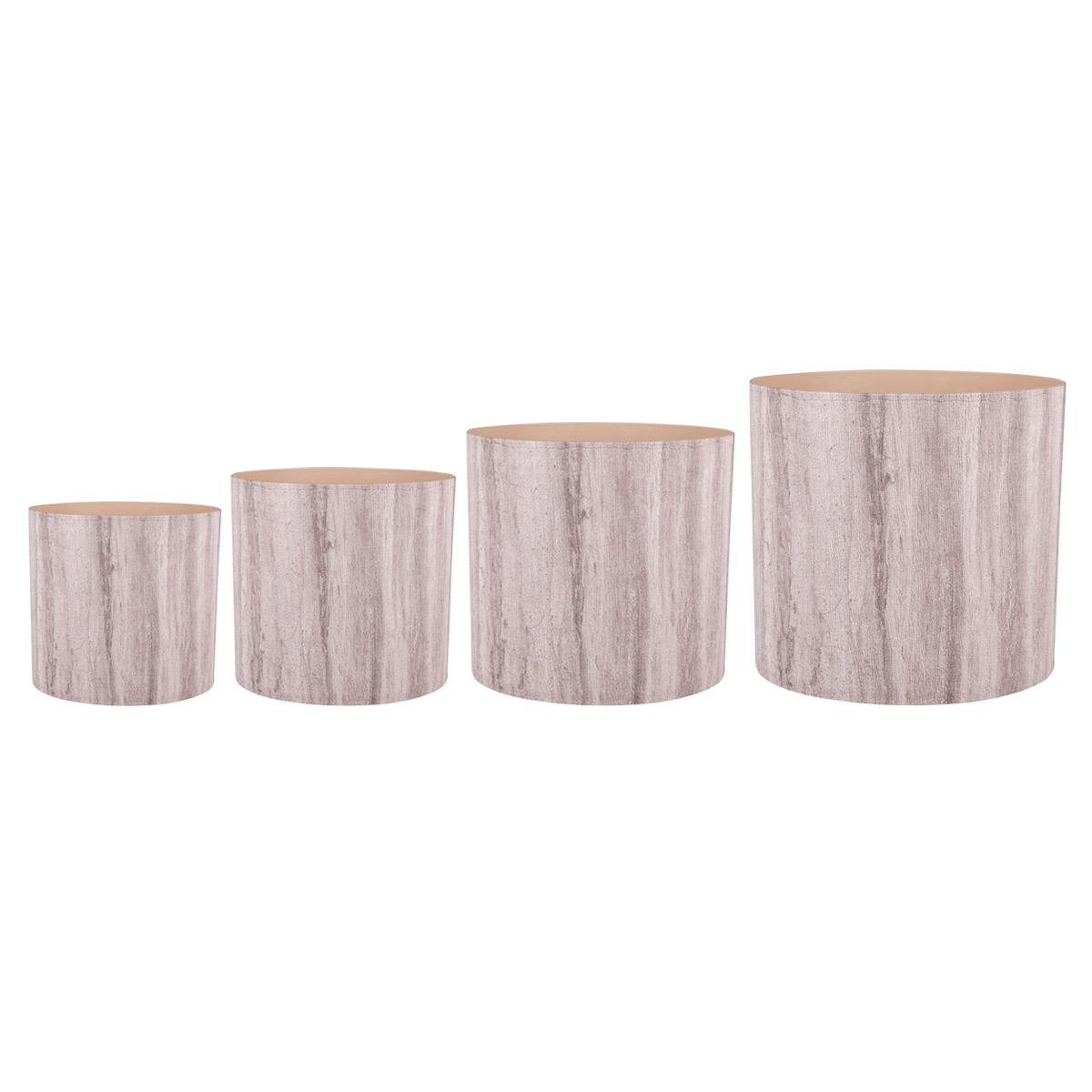 Набор горшков для цветов Miolla Бежевый ламинат, со скрытым поддоном, 4 предметаSMG-SET22Набор Miolla Бежевый ламинат состоит из 4 горшков со скрытыми поддонами. Горшки выполнены из пластика. Изделия предназначены для цветов. Изделия оснащены специальными скрытыми поддонами. Диаметр горшков: 20,5 см, 16,5 см, 13,5 см, 11,5 см. Высота горшков (с учетом поддона): 19 см, 16 см, 13,5 см, 11,5 см. Объем горшков: 1 л, 1,7 л, 2,8 л, 5,1 л.