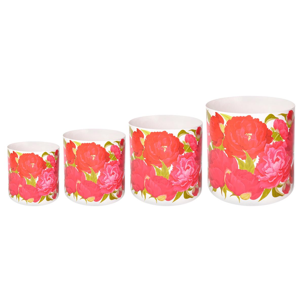 Набор горшков для цветов Miolla Пионы, со скрытым поддоном, 4 предметаSMG-SET9Набор Miolla Пионы состоит из 4 горшков со скрытыми поддонами. Горшки выполнены из пластика и декорированы цветочным рисунком. Изделия предназначены для цветов. Изделия оснащены специальными скрытыми поддонами. Диаметр горшков: 20,5 см, 16,5 см, 13,5 см, 11,5 см. Высота горшков (с учетом поддона): 19 см, 16 см, 13,5 см, 11,5 см. Объем горшков: 1 л, 1,7 л, 2,8 л, 5,1 л.