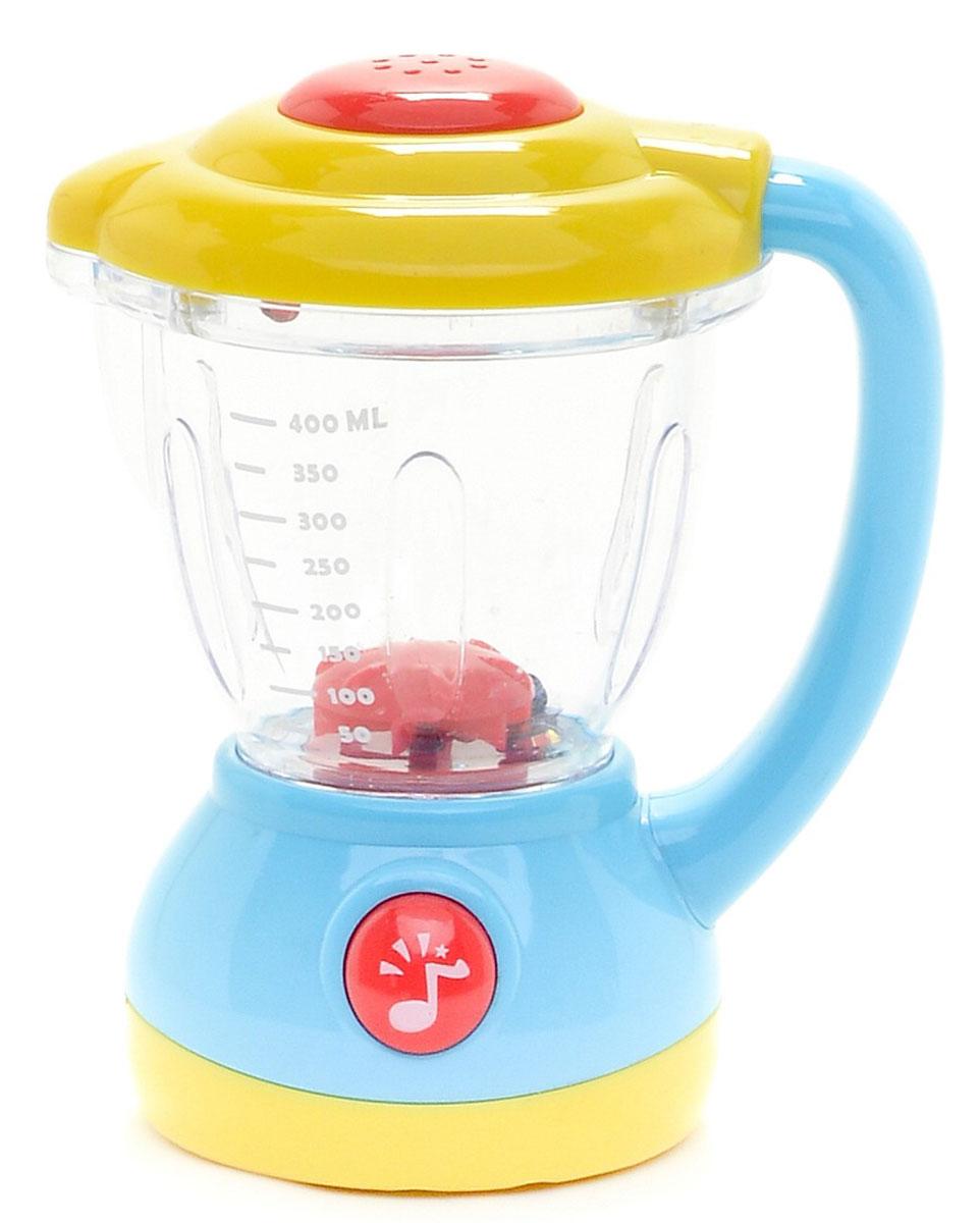 Блендер Joy Toy со светом и звукомM737-H35010Большинству маленьких принцесс в будущем придется активно заниматься домашним хозяйством. С представленной игрушечной бытовой техникой, можно не только пытаться адаптироваться к окружающей среде, но и играть в интересные игры. Представленный чайник имеет цветовая подсветка, звук булькающей воды, взлетают и кружатся яркие конфетти, кнопка включения.