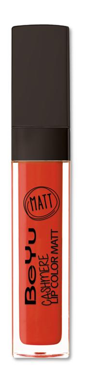 BeYu Помада для губ матовая стойкая Cashmere Lip Color Matt 08 6,5 мл3342.08Стойкая жидкая помада с матовым эффектом и нежной текстурой. Идеально держится на губах весь день, не растекается и не скатывается. Модное матовое покрытие ставит яркий акцент на улыбке, насыщенные оттенки помады усиливает эффект. Макияж губ выглядит выразительно и чувственно. Помада легко наносится благодаряю удобному закругленному аппликатору.