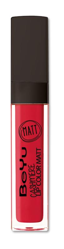 BeYu Помада для губ матовая стойкая Cashmere Lip Color Matt 19 6,5 мл3342.19Стойкая жидкая помада с матовым эффектом и нежной текстурой. Идеально держится на губах весь день, не растекается и не скатывается. Модное матовое покрытие ставит яркий акцент на улыбке, насыщенные оттенки помады усиливает эффект. Макияж губ выглядит выразительно и чувственно. Помада легко наносится благодаряю удобному закругленному аппликатору.