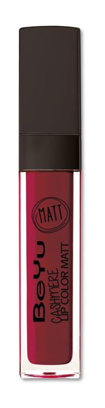 BeYu Помада для губ матовая стойкая Cashmere Lip Color Matt 25 6,5 мл3342.25Стойкая жидкая помада с матовым эффектом и нежной текстурой. Идеально держится на губах весь день, не растекается и не скатывается. Модное матовое покрытие ставит яркий акцент на улыбке, насыщенные оттенки помады усиливает эффект. Макияж губ выглядит выразительно и чувственно. Помада легко наносится благодаряю удобному закругленному аппликатору.