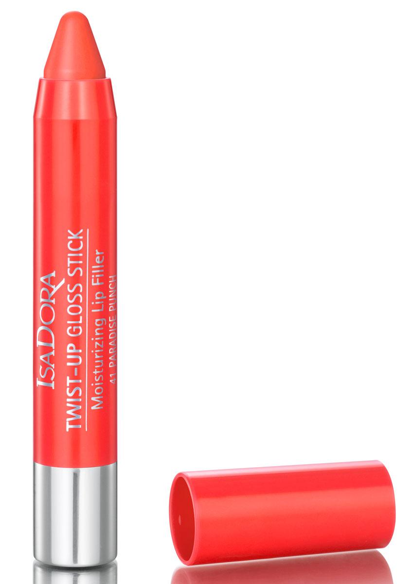 Isa Dora Блеск-карандаш для губ Twist-up Gloss Stick 41, 2,7 г111841Сияющий эффект, легкая кремовая текстура, комфортные ощущения – не сушит губы. Насыщенный устойчивый цвет, удобная форма стика для удобного нанесения и создания четкого контура губ. Формула, насыщенная увлажняющими и защитными ингредиентами. Удобный формат выкручивающегося стика. Без отдушек. Клинически тестировано.