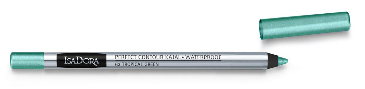 Isa Dora Карандаш для век водостойкий Perfect Contour Kajal Waterproof 63, 1,2 г123863Насыщенный цвет. Водостойкая формула. Устойчивый результат (14 часов). Можно использовать для контура внутреннего века. Без парфюмерных отдушек. Протестировано офтальмологами.