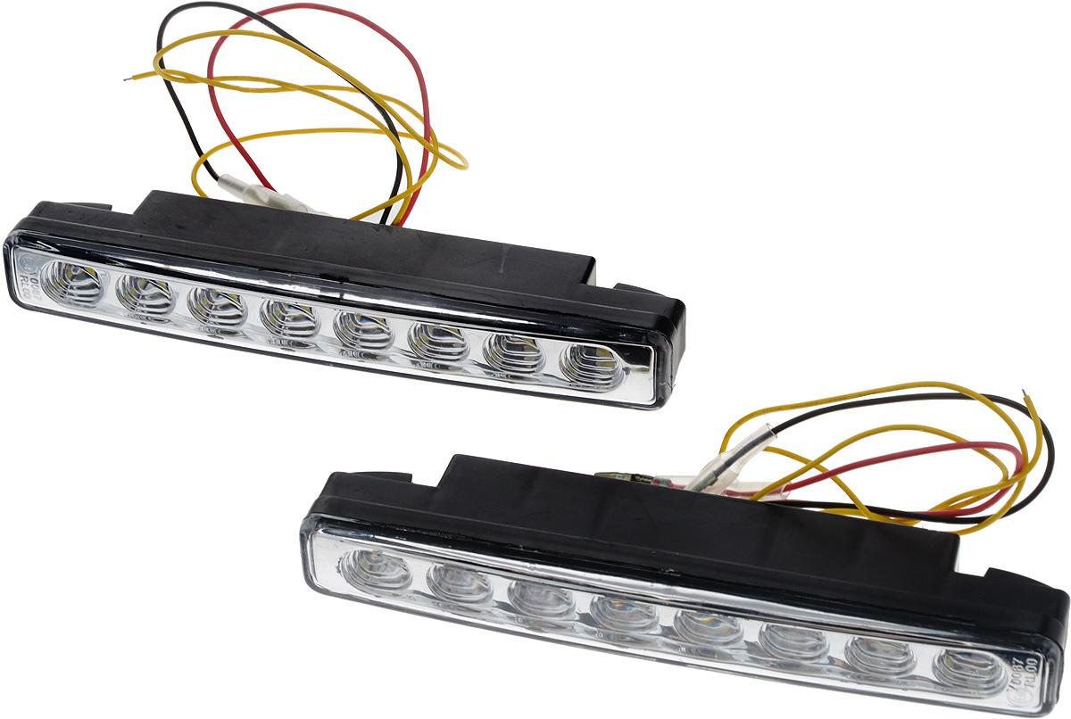 Дневные ходовые огни Nord YADA 12V, цвет: белый. 902633902633Дневные ходовые огни Nord YADA предназначены для создания хорошей видимости автомобиля на дороге с целью достижения высокого уровня безопасности движения. Особенности: - Супер яркий светодиод потребляет намного меньше энергии, чем обычная лампа, сохраняя оптимальную светоотдачу. - Привлекательный дизайн и регулируемый кронштейн, который подходит к различным моделям автомобилей. - Водонепроницаемый отражатель для любых дорожных и погодных условий. Мощность: 5 Вт . Напряжение: 12 В. Температура свечения: 5000 К (холодный белый свет). Комплектация: 2 шт.