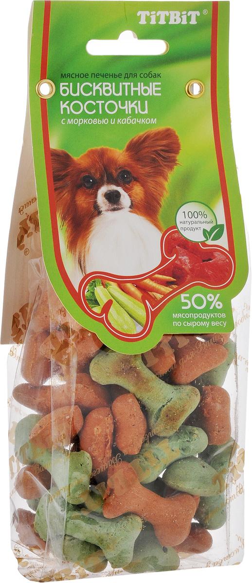 Косточки бисквитные Titbit, с морковью и кабачком, 100 г6344Бисквитные косточки с овощами Titbit - это мясное печенье для собак любых пород. Они идеально подходят для поощрения и угощения вашего питомца. Структура печенья способствует укреплению десен и снижает риск образования зубного камня у животного. Товар сертифицирован.