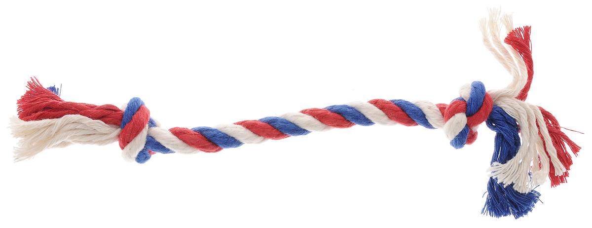 """Игрушка для собак """"Titbit"""", канат с двумя узлами, длина 25 см 6818"""
