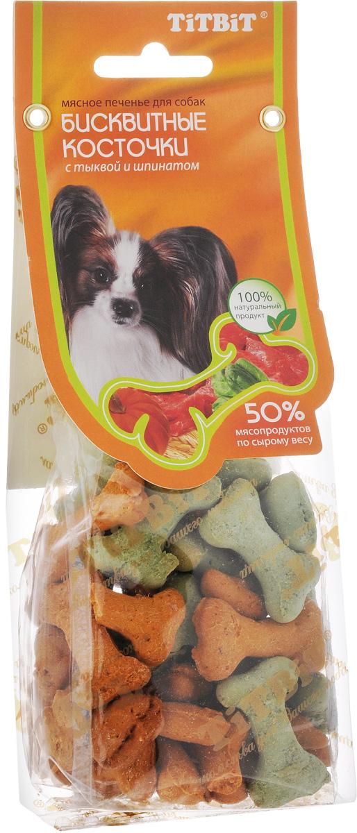 Лакомство для собак Titbit, бисквитные косточки с тыквой и шпинатом, 100 г6337Лакомство Titbit - это мясное печенье с овощами для собак любых пород. Идеально подходит для поощрения и угощения. Структура печенья способствует укреплению десен и снижает риск образования зубного камня. Товар сертифицирован.