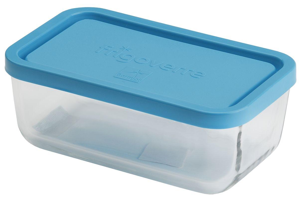 Контейнер Bormioli Rocco Frigoverre, прямоугольный, цвет крышки: синий, 400 млB335170-1Bormioli Rocco Стеклянный герметичный контейнер для хранения пищи Frigoverre с синей крышкой прямоугольный 13х10 см, 400 мл. Из холодильника сразу в микроволновую печь! Выдерживают температурный удар от – 20С до +70С. Безопасны для хранения готовых продуктов. Не содержат Бисфенол А. BPA Free. Закаленное стекло. В 5 раз повышена ударостойкость. Устойчивы к царапинам и сколам. Удобство использования. Изделия легко моются. Можно использовать в посудомоечной машине. Настоящее итальянское качество!