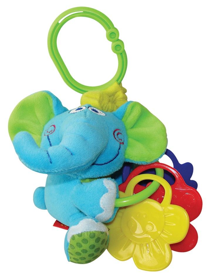 Мини-подвеска Слоненок33245Идеальная игрушка в дорогу — удобно крепить на коляску, автокресло и т.д.; сделана из разнофактурных материалов для развития тактильных ощущений.