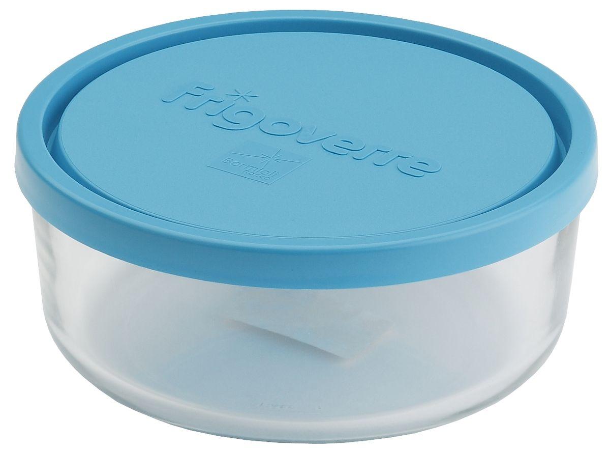 Контейнер Bormioli Rocco Frigoverre, круглый, цвет крышки: синий, 1250 млB388450-1Bormioli Rocco Стеклянный герметичный контейнер для хранения пищи Frigoverre с синей крышкой круглый d-18 см, 1250 мл. Из холодильника сразу в микроволновую печь! Выдерживают температурный удар от – 20С до +70С. Безопасны для хранения готовых продуктов. Не содержат Бисфенол А. BPA Free. Закаленное стекло. В 5 раз повышена ударостойкость. Устойчивы к царапинам и сколам. Удобство использования. Изделия легко моются. Можно использовать в посудомоечной машине. Настоящее итальянское качество!