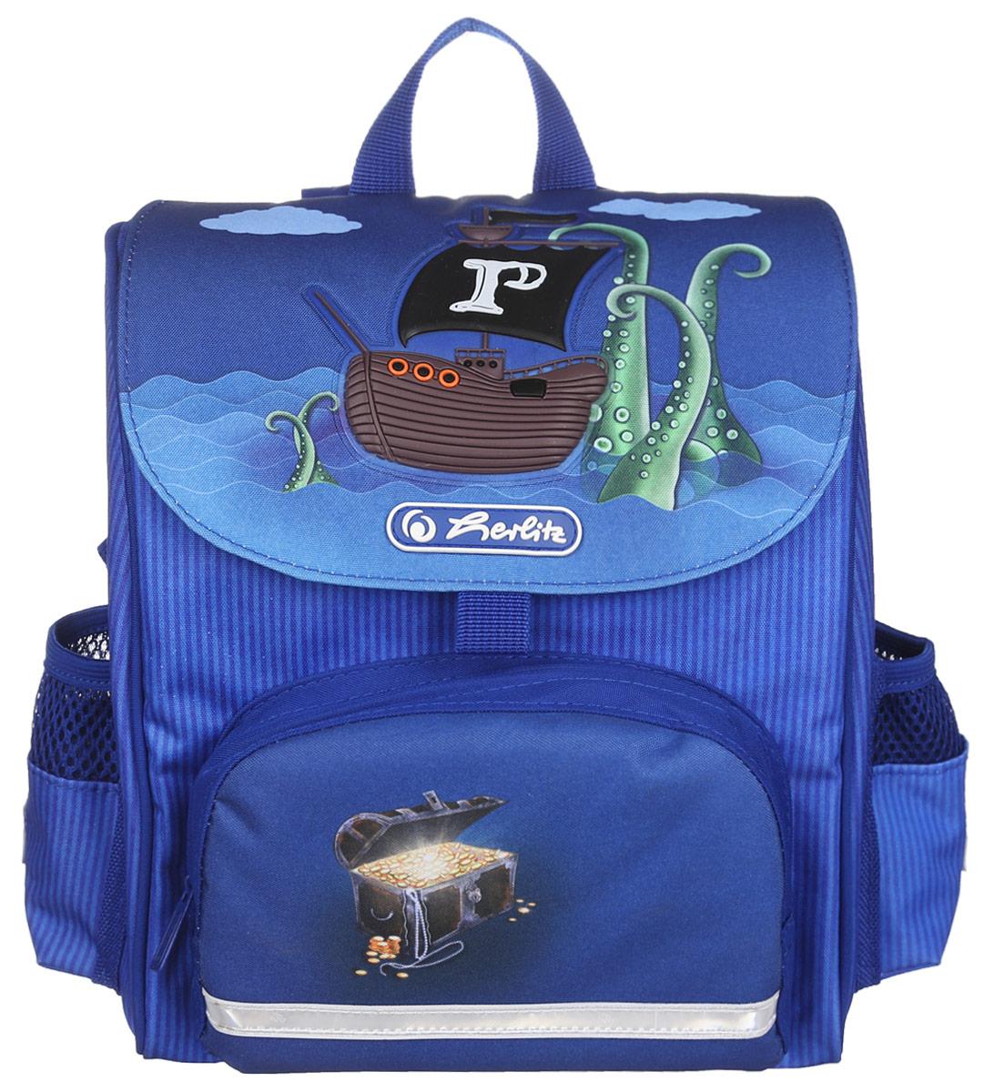 Herlitz Рюкзак дошкольный Mini Softbag11408325Дошкольный рюкзак Herlitz Mini Softbag - это идеальная модель, разработанная специально для дошкольников. Рюкзак оснащен всеми деталями взрослого школьного изделия. Рюкзак имеет одно просторное внутреннее отделение, закрывающееся клапаном на липучку. На лицевой стороне рюкзака находится накладной карман на молнии, а по бокам - два открытых кармана на резинках. В рюкзак превосходно поместятся цветные мелки, книжки-раскраски и игрушки. Рюкзак легко открывается и закрывается благодаря застежке на липучке Velcro Fastener. Ортопедическая спинка, созданная по специальной технологии из дышащего материала, равномерно распределяет нагрузку на плечевые суставы и спину. В нижней части спинки расположен поясничный упор - небольшой валик, на который при правильном ношении рюкзака будет приходиться основная нагрузка. Изделие оснащено удобной текстильной ручкой для переноски в руке и двумя лямками регулируемой длины. У рюкзака имеются светоотражатели.