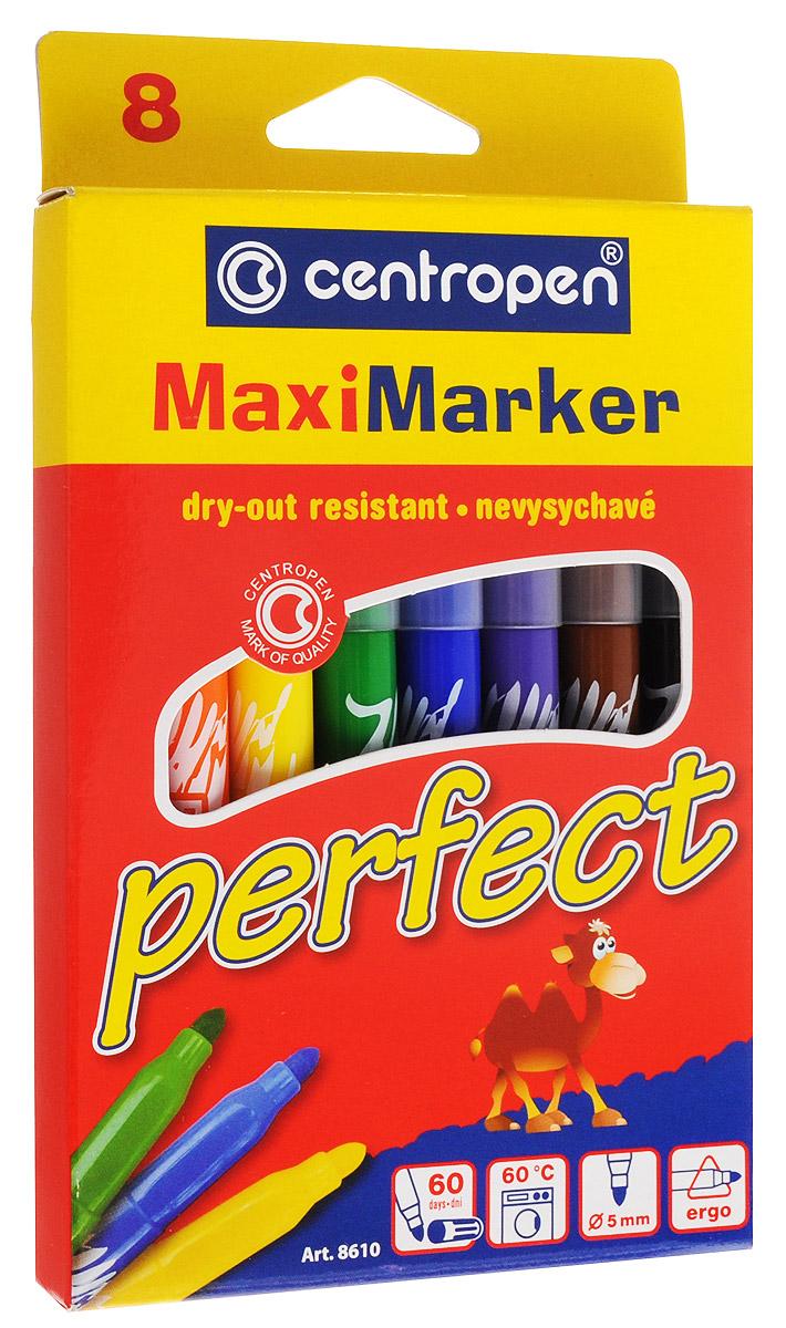 Centropen Набор маркеров Perfect 8 цветов8610Набор маркеров Centropen Perfect состоит из 8 маркеров, которые обязательно понравятся юному художнику, ведь они имеют эргономичную форму. Маркеры с большим запасом специальных чернил, благодаря чему не высыхают без колпачка в течение 60 дней. Изделия безвредны и нетоксичны, легко смываются с рук. Диаметр стержня - 5 мм.
