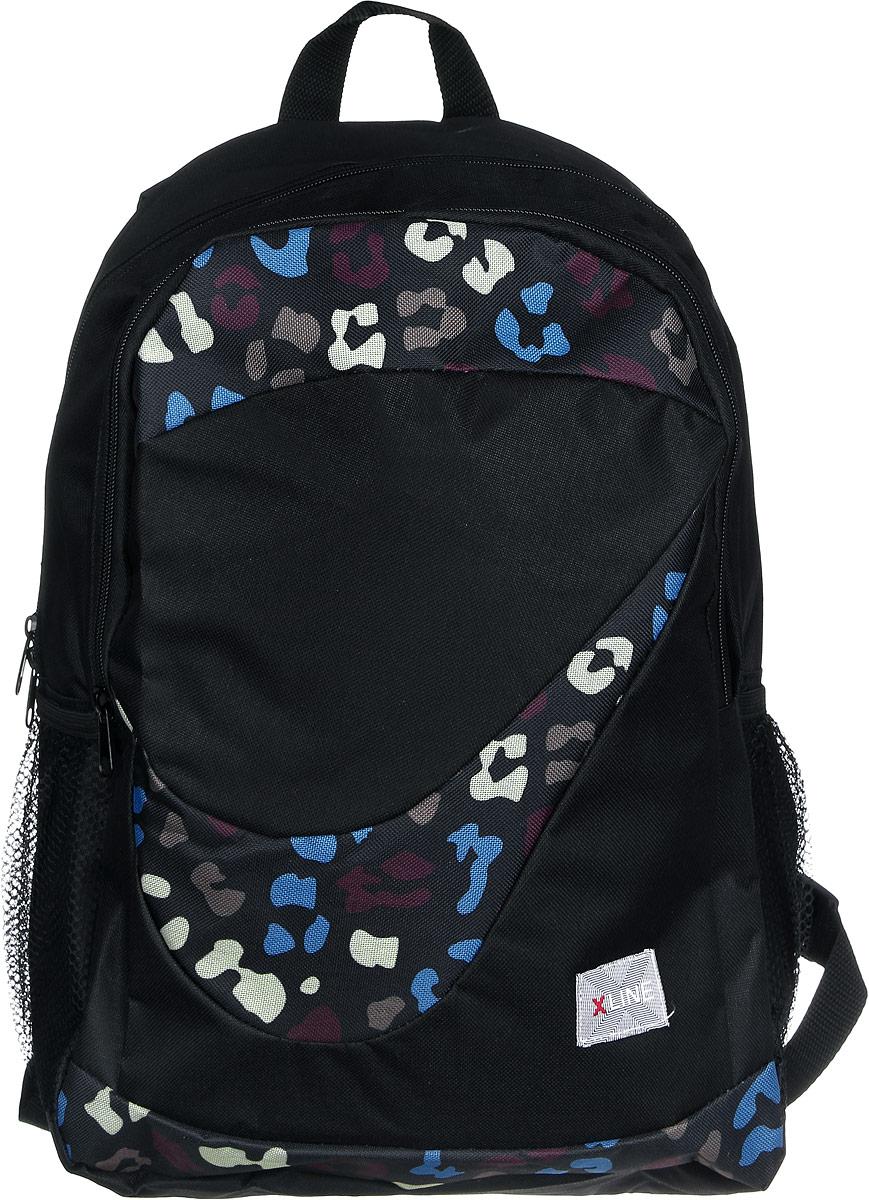 Proff Рюкзак детский X-line цвет черныйDL-722Детский рюкзак Proff X-line - это красивый и удобный рюкзак, который подойдет всем, кто хочет разнообразить свои будни. Выполнен из прочного материала. Рюкзак имеет два вместительных отделения на застежках-молниях. По бокам изделия находятся два открытых сетчатых кармана. Рюкзак оснащен удобной текстильной ручкой для переноски в руке или подвешивания. Мягкие широкие лямки позволяют легко и быстро отрегулировать рюкзак в соответствии с ростом. Многофункциональный детский рюкзак станет незаменимым спутником вашегоребенка. Рекомендуемый возраст: от 10 лет.