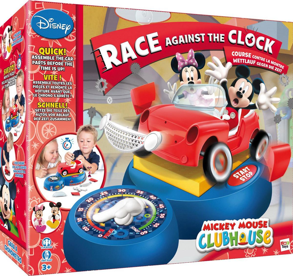 Disney Настольная игра Гонка на время Mickey Mouse1120218Игра заключается в том, чтобы как можно быстрее собрать машинку Mickey до истечения времени. Эта захватывающая игрушка понравится всей семье. Эта захватывающая настольная игра понравится всей семье. В набор входят фигурки любимых героев Микки и Минни. Игра выполнена из высококачественных безопасных материалов.