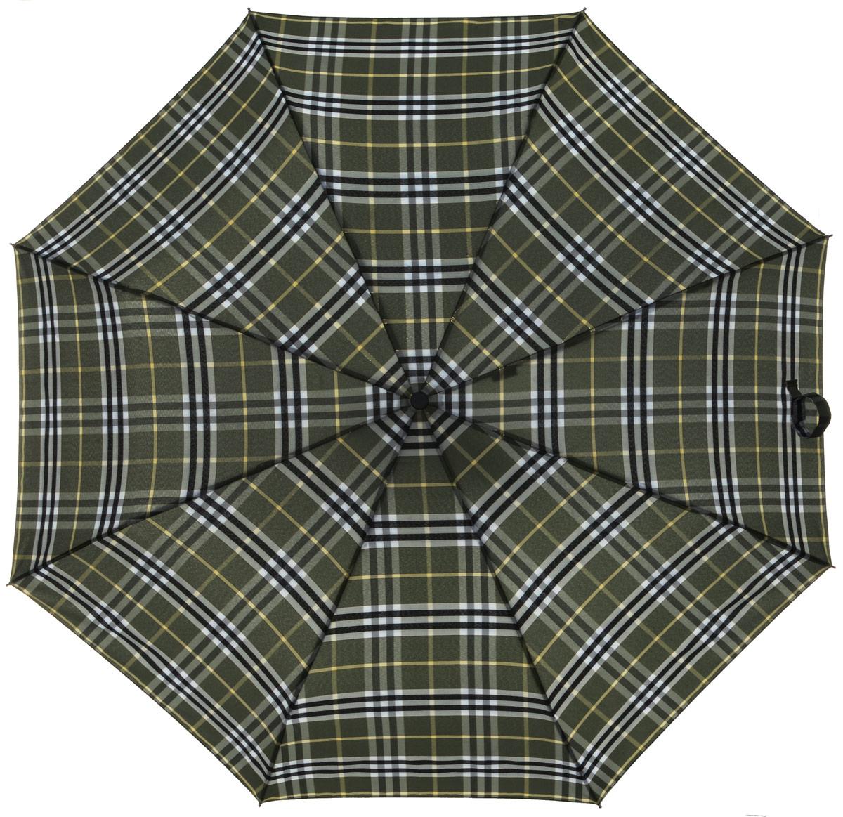 Зонт женский Labbra, автомат, 3 сложения, цвет: оливковый. A3-05-031A3-05-031Яркий зонт Labbra не оставит вас незамеченной. Зонт оформлен оригинальным принтом. Зонт состоит из восьми спиц и стержня, изготовленных из стали и фибергласса. Купол выполнен из качественного полиэстера и эпонжа, которые не пропускают воду. Зонт дополнен удобной ручкой из пластика. Зонт имеет автоматический механизм сложения: купол открывается и закрывается нажатием кнопки на ручке, стержень складывается вручную до характерного щелчка, благодаря чему открыть и закрыть зонт можно одной рукой. Ручка дополнена петлей, благодаря которой зонт можно носить на запястье . К зонту прилагается чехол. Удобный и практичный аксессуар даже в ненастную погоду позволит вам оставаться стильной и элегантной.