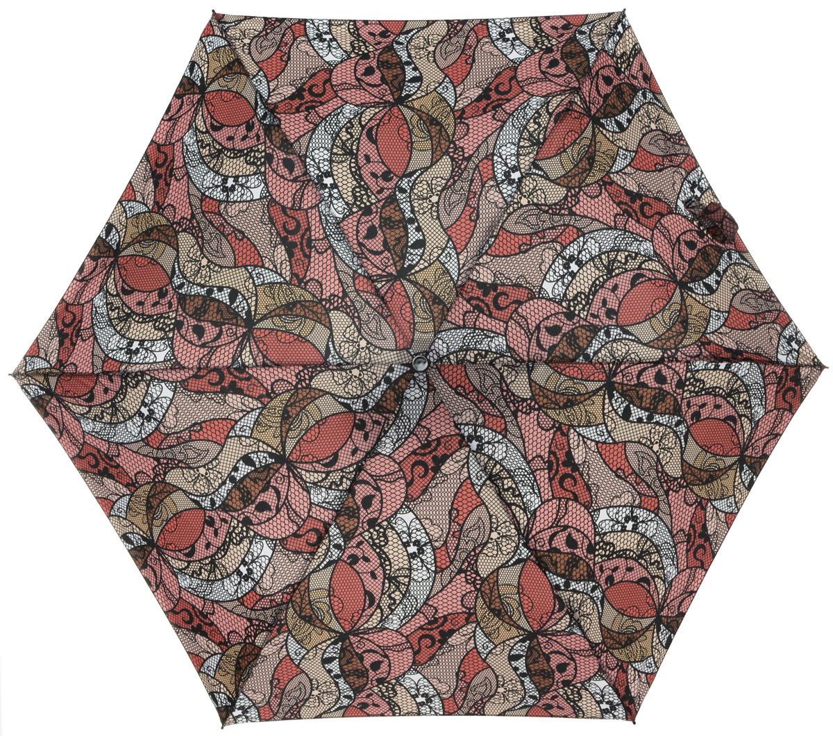 Зонт женский Labbra, автомат, 3 сложения, цвет: розовый, черный. A3-05-LR029A3-05-LR029Яркий зонт Labbra не оставит вас незамеченной. Зонт оформлен оригинальным принтом в виде цветов. Зонт состоит из шести спиц и стержня, изготовленных из стали, алюминия и фибергласса. Купол выполнен из качественного полиэстера и эпонжа, которые не пропускают воду. Зонт дополнен удобной ручкой из пластика. Зонт имеет автоматический механизм сложения: купол открывается и закрывается нажатием кнопки на ручке, стержень складывается вручную до характерного щелчка, благодаря чему открыть и закрыть зонт можно одной рукой. Ручка дополнена петлей, благодаря которой зонт можно носить на запястье . К зонту прилагается чехол. Удобный и практичный аксессуар даже в ненастную погоду позволит вам оставаться стильной и элегантной.